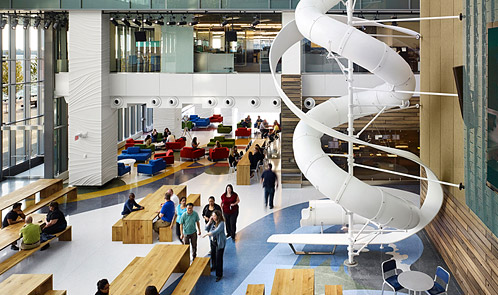<p class='hname'> <a href='http://www.inc.com/ss/worlds-coolest-offices-2010/coolest-use-space'>Corus Entertainment</a> | <a href='http://www.inc.com/ss/worlds-coolest-offices-2010/coolest-use-space'>TEDCO, Diamond and Schmitt Architects</a> | Toronto, Canada | Making the Best Use of Space </p>